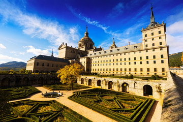Wide angle shot of  El Escorial, Spain