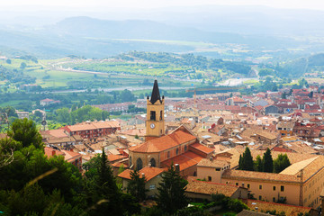 view of town in Pyrenees. Berga