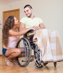 Romantic relationships in invalid chair