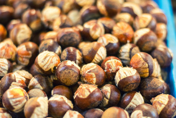 Blurred image of Chestnuts