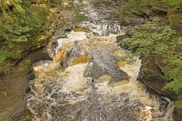 Rushing Water over Unusual Rocks