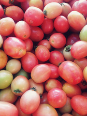 Fresh Red cherry tomatoes background