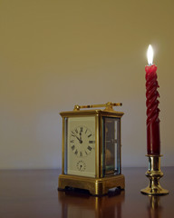 Candle & clock