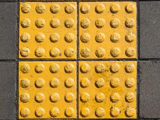 yellow concrete tiles