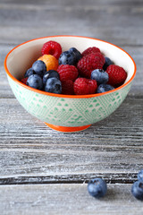 sweet berries in a small bowl