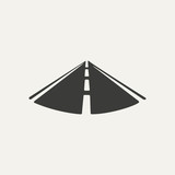 illustration of road. Black and white style - 78517037