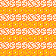 Colorful seamless pattern with curve circles, horizontal lines,