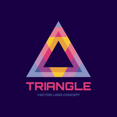 Triangle - abstract vector logo concept illustration.