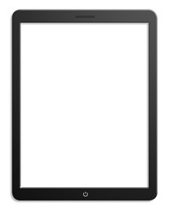 Illustration of modern computer tablet with blank screen