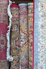 Hand knotted carpets in Mutrah Souk, Muscat, Oman
