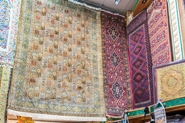 Persian carpets shop Mutrah Souk, Muscat, Oman