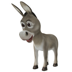 Sad cartoon donkey