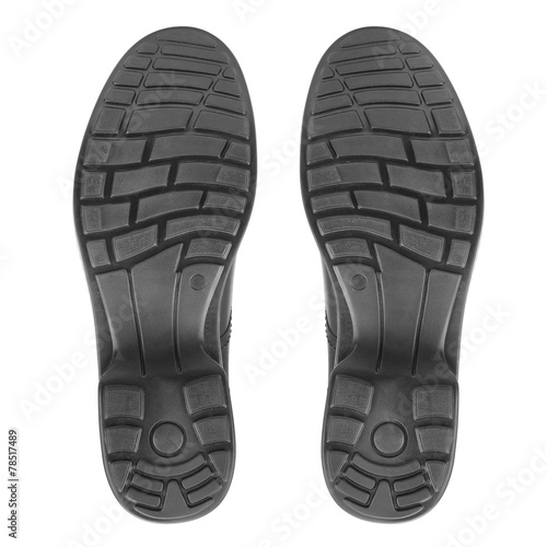 sole of shoe isolated on white - 78517489