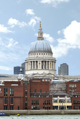 St. Paul cathedral in London and blue sky