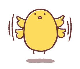 羽ばたくヒヨコ