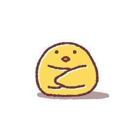座るヒヨコ