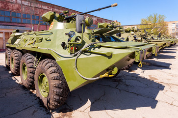 Russian Army BTR-82 wheeled armoured vehicle personnel carrier