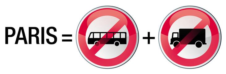 interdiction aux camions, bus et cars à Paris