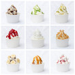 canvas print picture - Frozen Yoghurt Collage