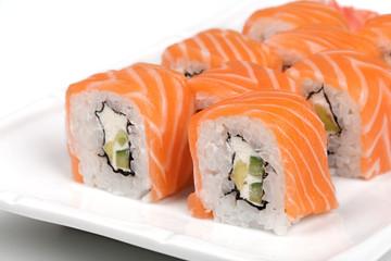 Philadelphia sushi roll.