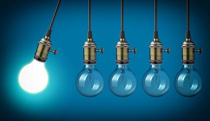 Perpetual motion with vintage light bulbs