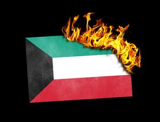 Flag burning - Kuwait