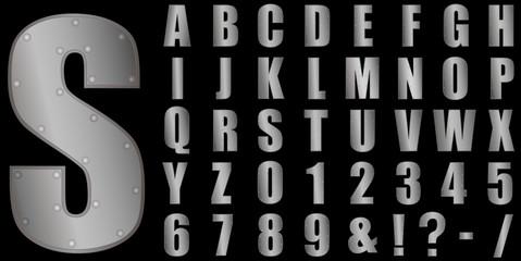 Metal - font