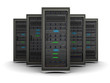 3d illustration of row the server racks - 78521247