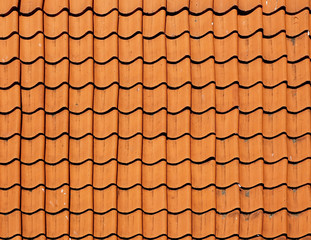 Texture tile roofs.