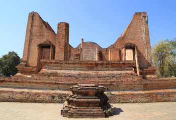 Ubosot (Ordination Hall) at Wat Mahaeyong, the ruin of a Buddhis