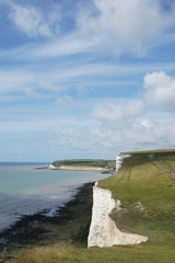 Cliff Edge, Seaford, England, UK, EUROPE