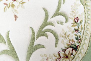 Fragment of wool carpet close-up