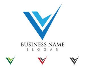 V Logo Template 2