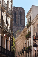 Gothic tower, Barcelona Cathedral (Spain)