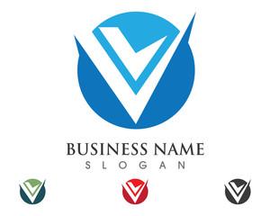 V Logo Template 1