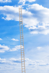 Unbroken extension ladder