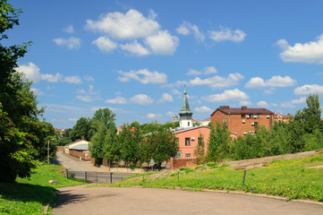 Vyborg street and Town Hall Tower