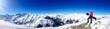 Snowboarder/Panoramaaufnahme