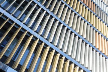Fassade mit Lamellen