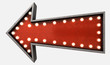 Vintage Red Arrow Sign - 78525602