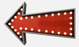 Vintage Red Arrow Sign