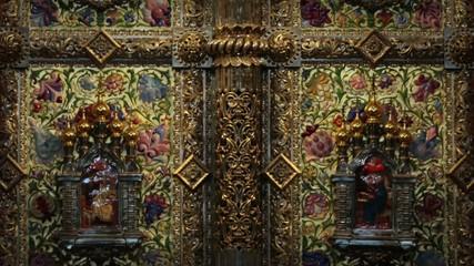 Golden iconostasis gates