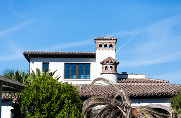 Tile Roof on Spanish Style Beach Home