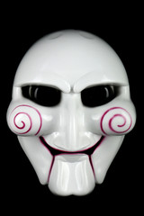 Scary halloween mask on a black background