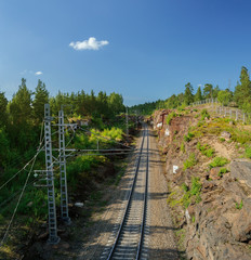 Single-track railway in Helsinki, Vyborg