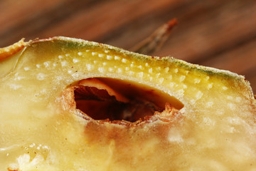 Pineapple fruit, macro view