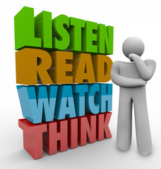 Learn Read Watch Think 3d Words Learning Process System