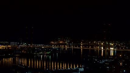 Vladivostok, night. Timelapse.