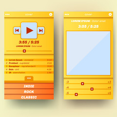 UI template for mobile phone or web extension.