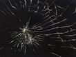 broken horizontal glass black background - 78527685